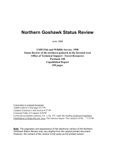 Northern Goshawk Status Review