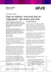 "Caps on liability: ensuring that an ""aggregate"" cap means just that"