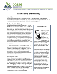 Insufficiency of Efficiency - Center for the Advancement of the Steady