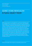 AGAINST ATOMIC INDIVIDUALISM IN PLURAL SUBJECT THEORY