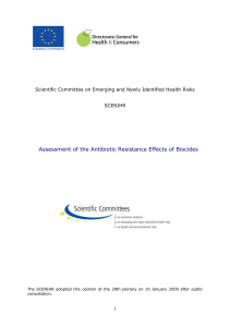 Antibiotic Resistance Effects of Biocides