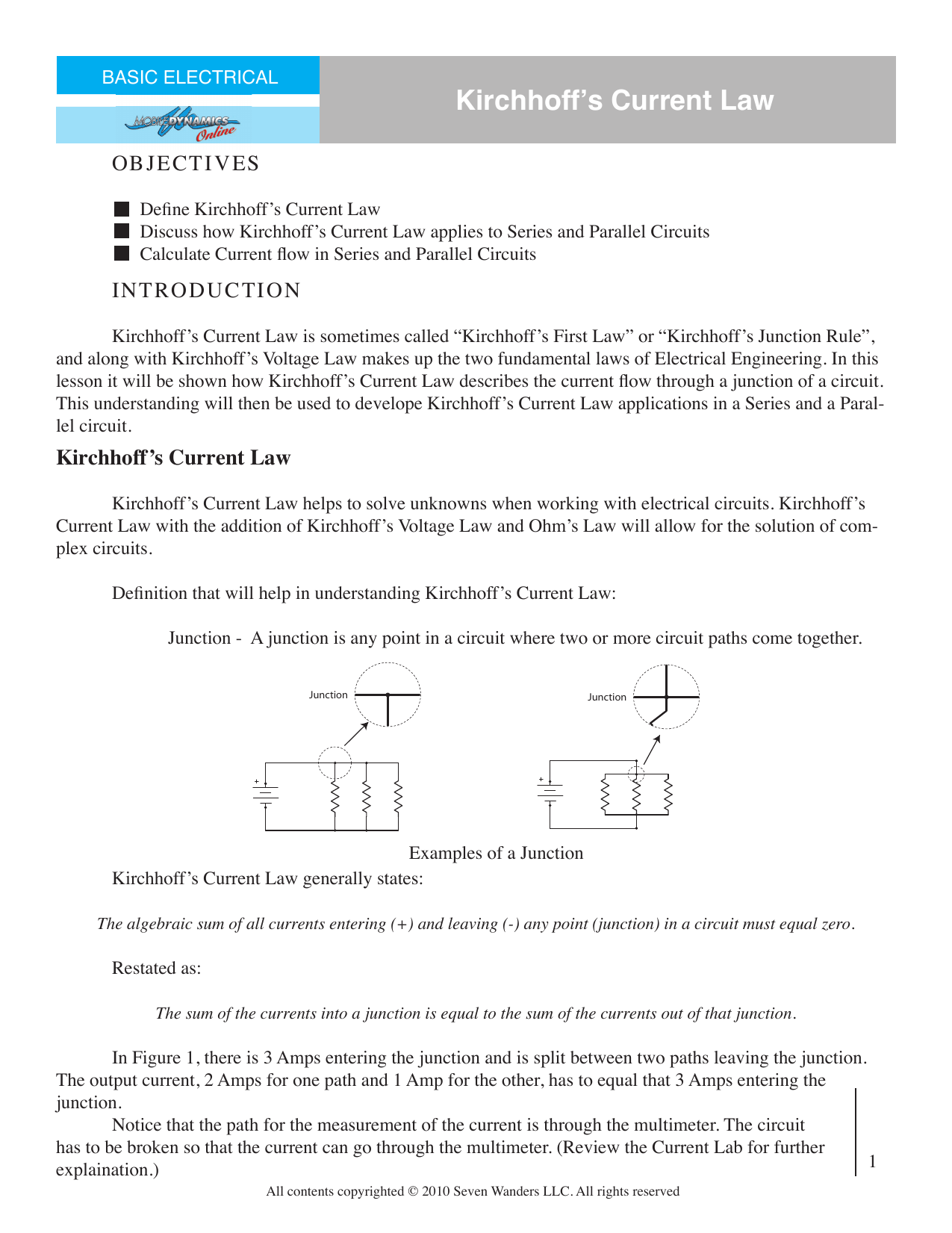 Kirchhoffs Current Law The Flow Of In Series Circuit