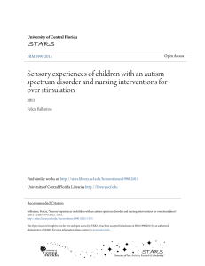 Sensory experiences of children with an autism spectrum