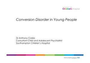 Conversion Disorder in Young People