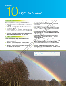 CHAPTER 10 Light as a wave