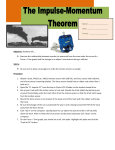 Impulse-Momentum Theorem Lab