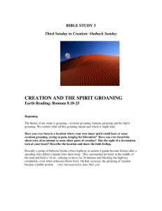 creation and the spirit groaning