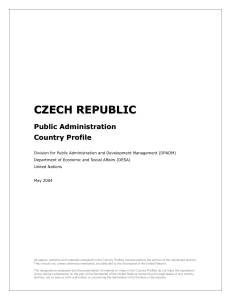Czech Republic Public Administration Profile