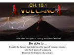 Ch 10.1 Volcano Notes