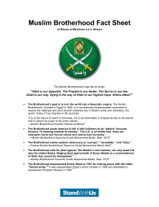 Muslim Brotherhood Fact Sheet