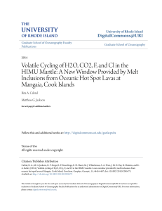Volatile Cycling of H2O, CO2, F, and Cl in the HIMU Mantle: A New