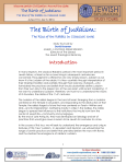 The Birth of Judaism