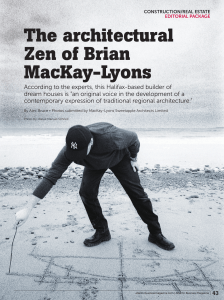 The architectural Zen of Brian MacKay-Lyons