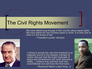 Civil Rights Movement - North Hunterdon