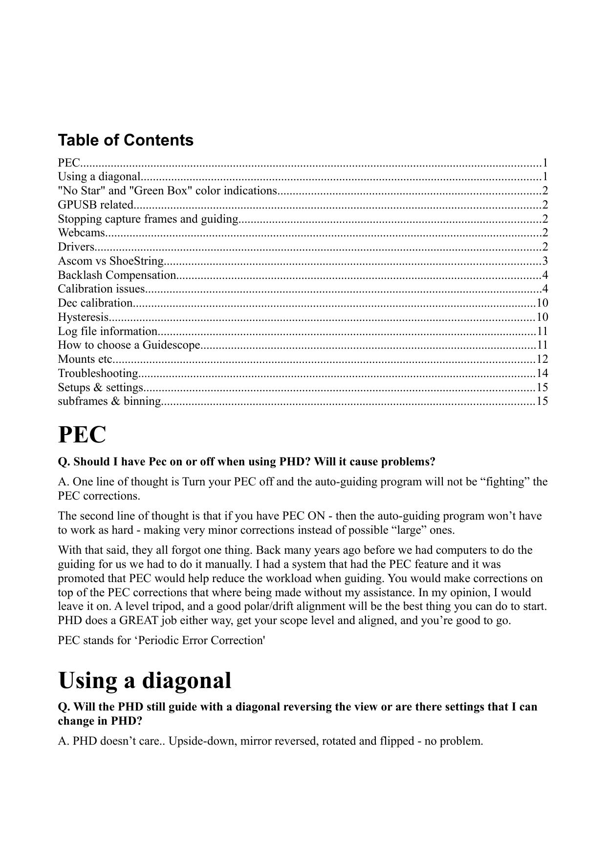 PEC Using a diagonal - Ruimtefotografie org