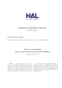 Quantum Controller of Gravity