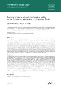 Ecology of stoats Mustela erminea in a valley of the