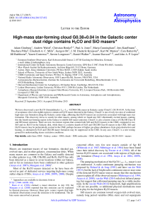 High-mass star-forming cloud G0.38+0.04 in the Galactic center dust