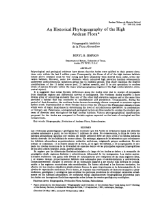 An Historical Phytogeography of the High Andean Flora*