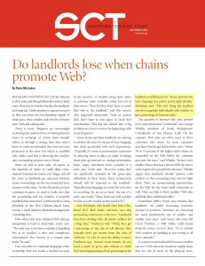 Do landlords lose when chains promote Web?