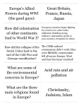 Print › 6th Social Studies CRCT Review #1 Europe | Quizlet | Quizlet