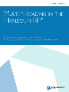 Multi-threading in the Harlequin RIP