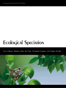 Ecological Speciation