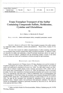 Trans-Tonoplast Transport of the Sulfur Containing