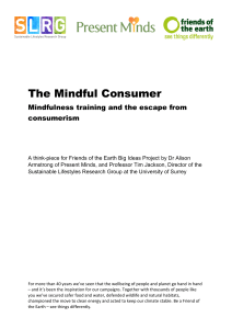The Mindful Consumer - Friends of the Earth