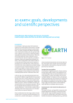 EC-EARTH: goals, developments and scientific perspectives