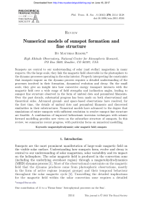 Numerical models of sunspot formation and fine structure