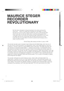 maurice steger recorder revolutionary