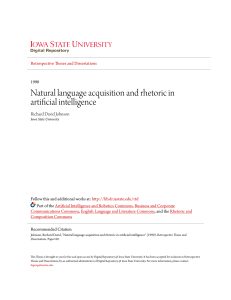 Natural language acquisition and rhetoric in artificial intelligence