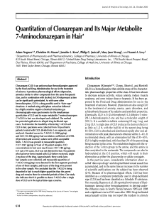 Quantitation of Clonazepam and Its Major Metabolite 7