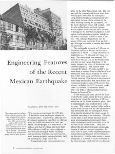 Engineering Features of the Recent Mexican Earthquake
