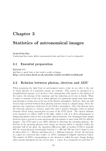 Chapter 3 Statistics of astronomical images