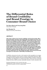 The Differential Roles of Brand Credibility and Brand Prestige in