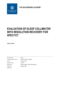 evaluation of elegp collimator with resolution recovery for spect/ct