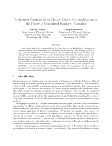 A Quotient Construction on Markov Chains with
