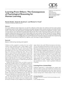 Learning From Others: The Consequences of Psychological