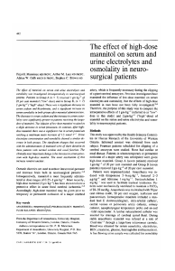 The effect of high-dose mannitol on serum and urine
