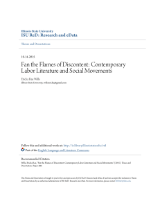 Contemporary Labor Literature and Social Movements