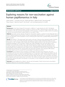 Exploring reasons for non-vaccination against human