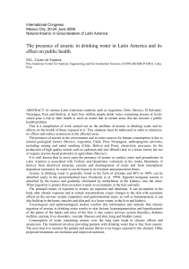 The presence of arsenic in drinking water in Latin America