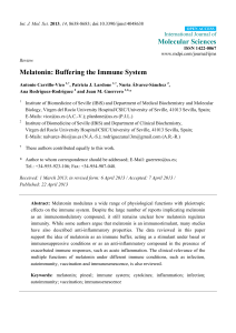 Melatonin: Buffering the Immune System