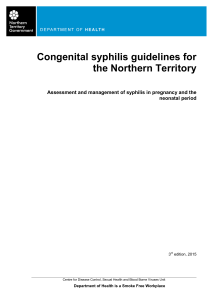 Congenital syphilis guidelines for the Northern Territory
