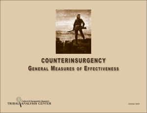 COUNTERINSURGENCY General Measures of Effectiveness
