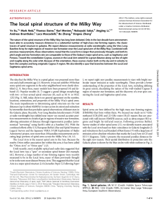 The local spiral structure of the Milky Way