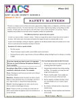 Safety Matters Winter 2014
