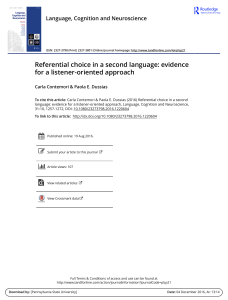 (2016). Referencial choice in a second language